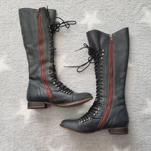 Steve Madden Perrin Lace Up Military Boot 7.5
